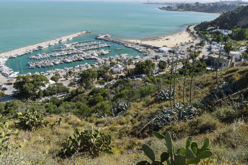 El bou de Sidi dijo el puerto deportivo fotos de archivo libres de regalías