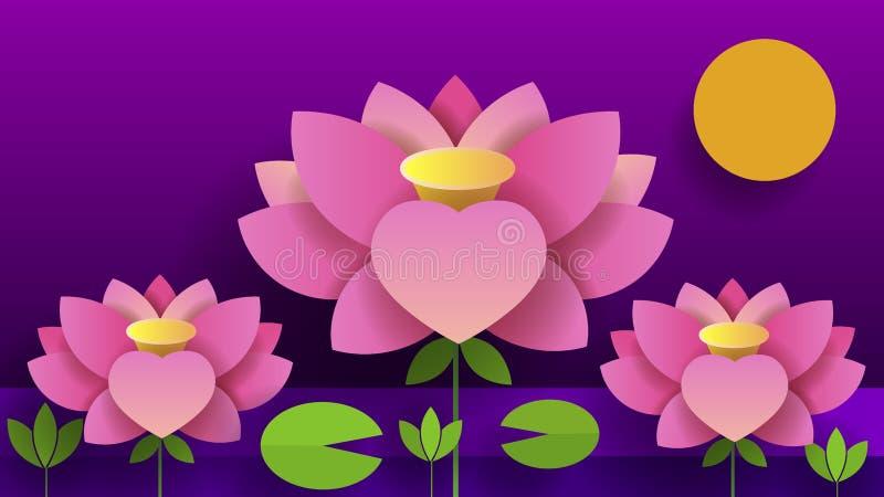 El bouganvilla de papel de Flower Lotus Ejemplo del vector de la naturaleza para sus necesidades y diseño ilustración del vector