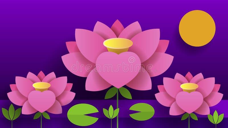 El bouganvilla de papel de Flower Lotus Ejemplo del vector de la naturaleza para sus necesidades y diseño libre illustration