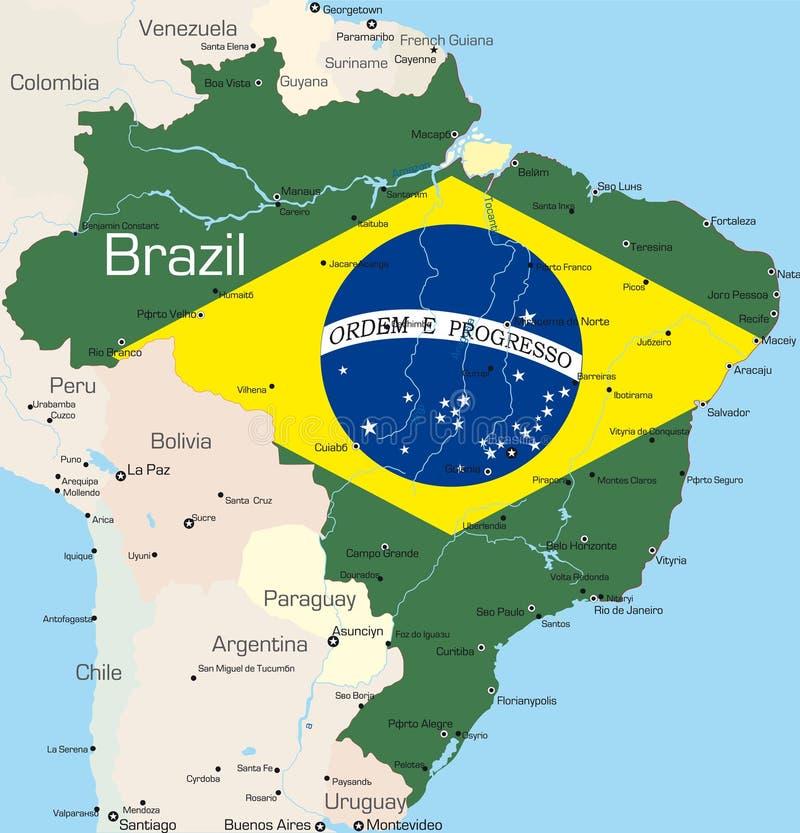 El Brasil ilustración del vector