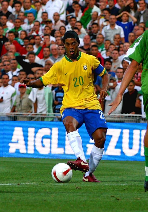 El Brasil contra Argelia imagen de archivo libre de regalías