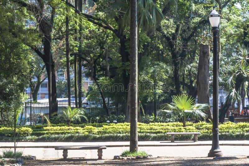 El Brasil, el 29 de octubre de 2011 Gente en Luz Public Park en los centros de la ciudad Sao Paulo Éste es el primer parque públi fotos de archivo libres de regalías