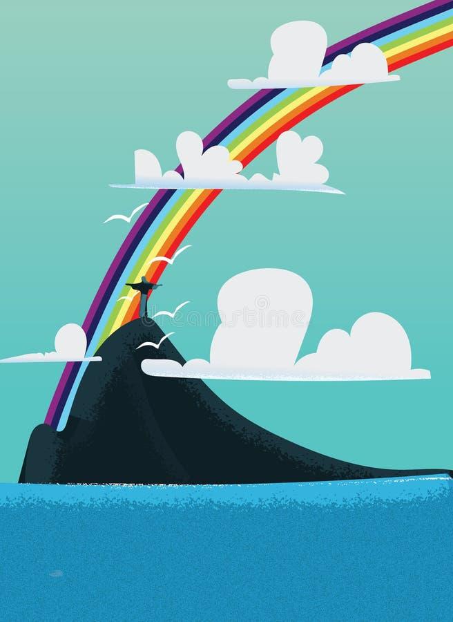 El Brasil debajo de un arco iris imagen de archivo
