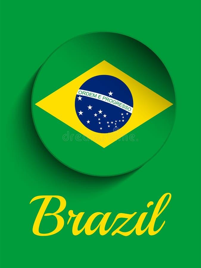 El Brasil 2014 letras con la bandera brasileña libre illustration