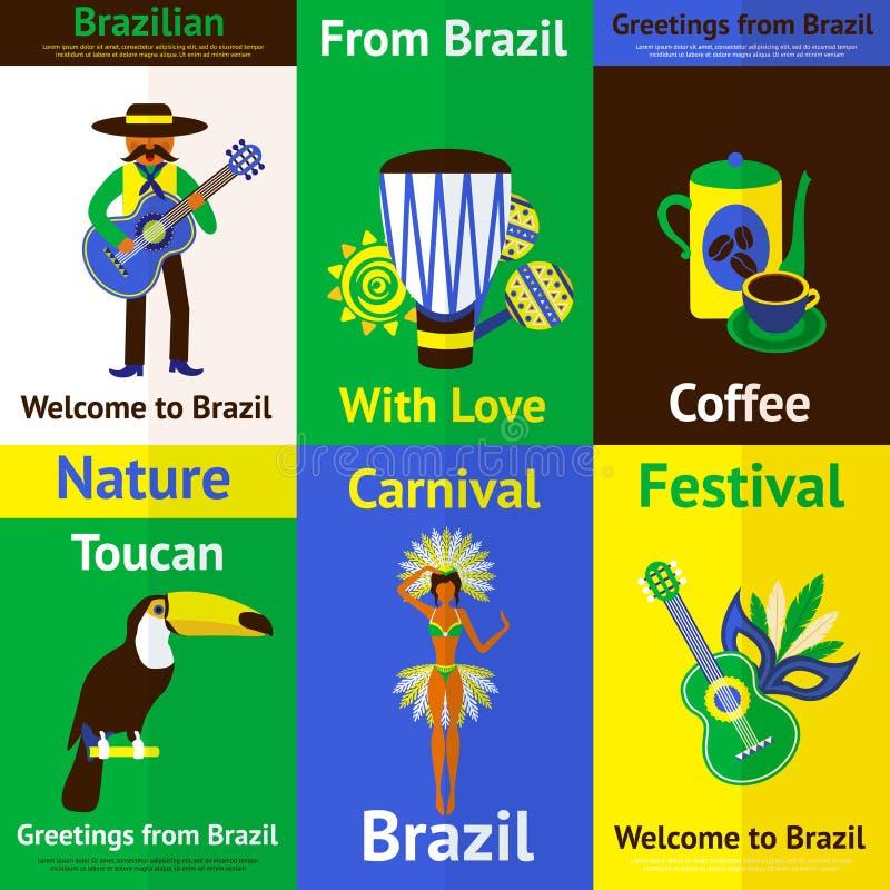 El Brasil Mini Poster Set libre illustration