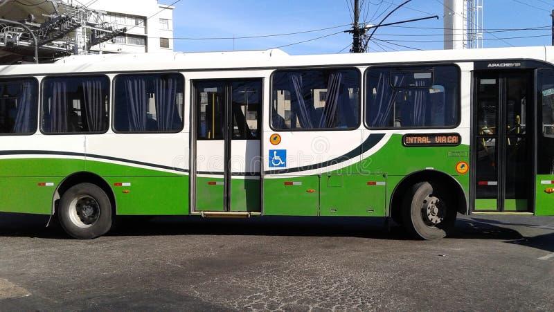 El Brasil - Rio de Janeiro - centrales - autobús fotografía de archivo libre de regalías