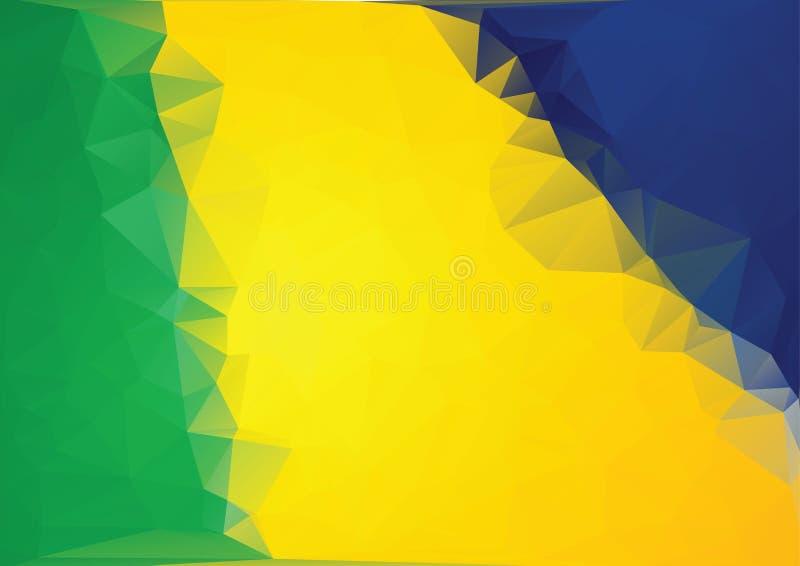 El brasileño colorea el fondo de triángulos ilustración del vector