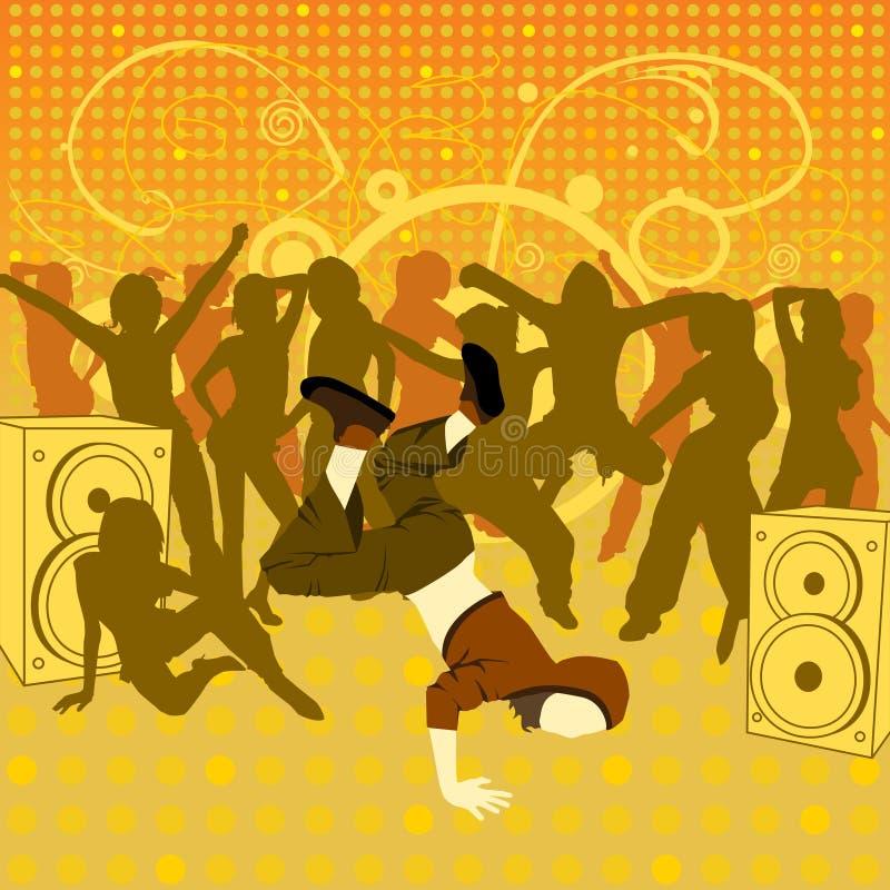 El breakdancer stock de ilustración