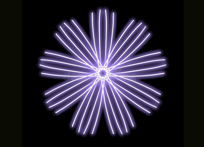 El brillar intensamente único del espiral stock de ilustración