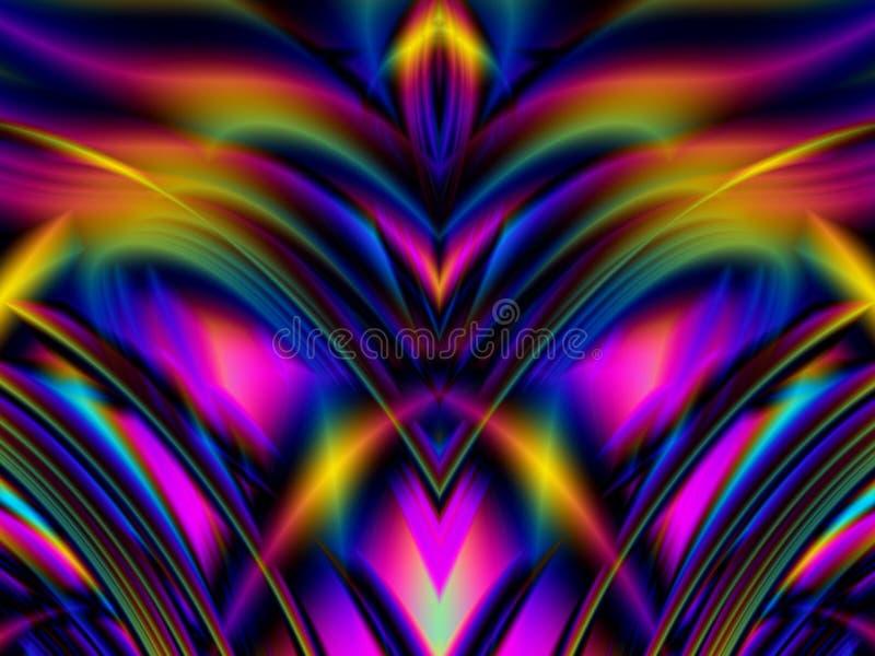 El brillar intensamente colorido alinea ondas libre illustration