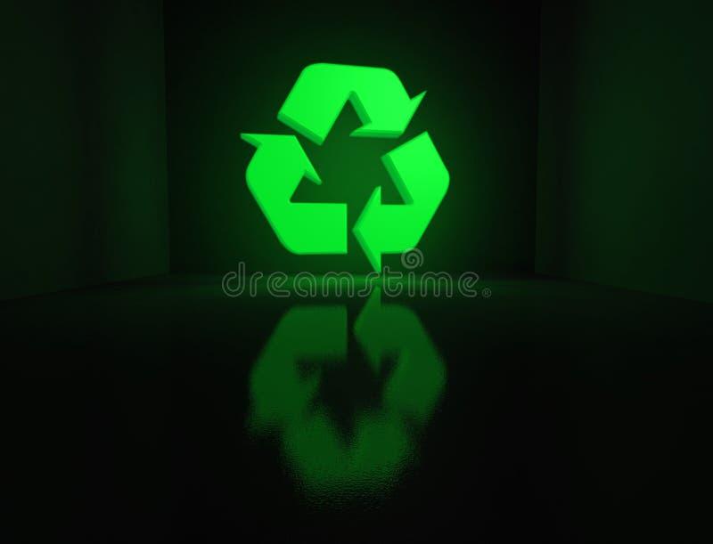 El brillar intensamente de reciclaje de símbolo libre illustration
