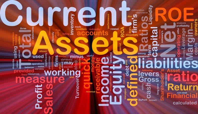 El brillar intensamente del concepto del fondo de los activos disponibles libre illustration
