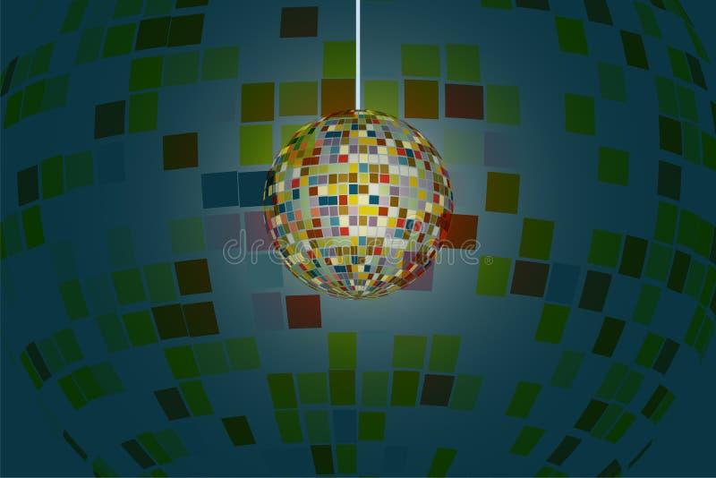 El brillo chispeante de la bola de discoteca con la reflexión colorida se separó alrededor imagen de archivo libre de regalías