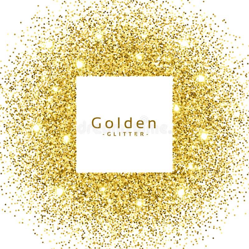 el brillo de oro abstracto chispea marco ilustración del vector