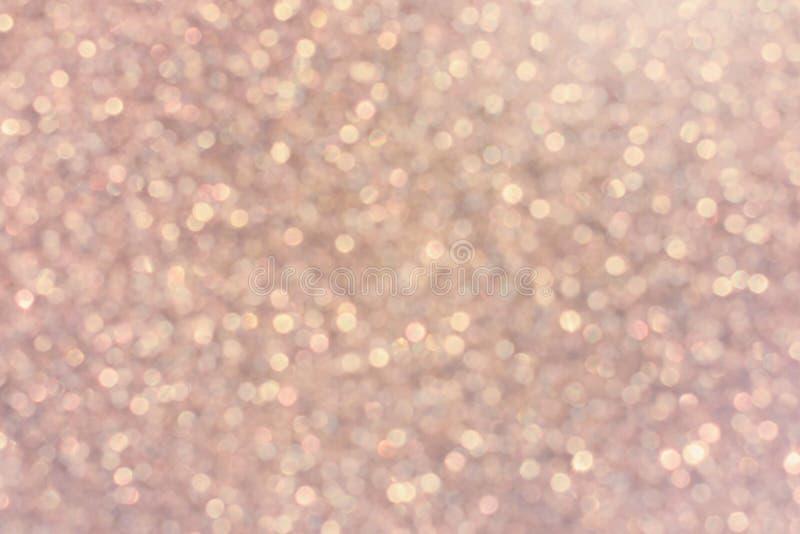 El brillo enciende el fondo rosado de la falta de definición Textura colorida del bokeh para fotografía de archivo libre de regalías