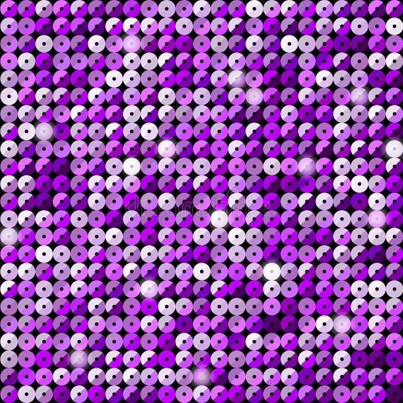 El brillo púrpura de las lentejuelas de la bandera, chispa, trasera ilustración del vector