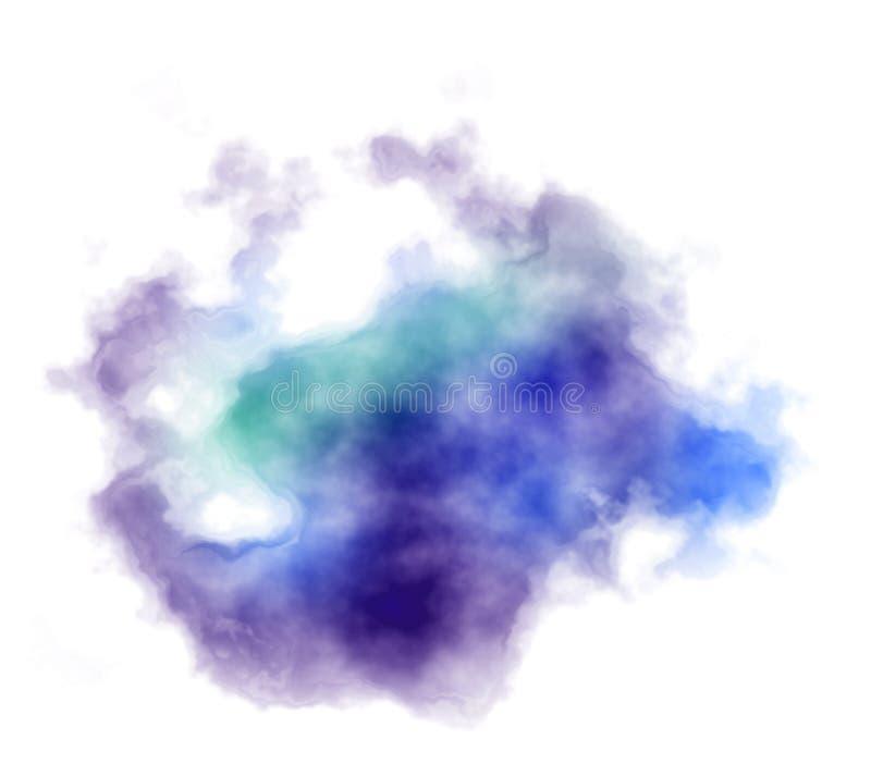 El bstract del  de Ð derramó el fondo azul y violeta de la pintura ilustración del vector