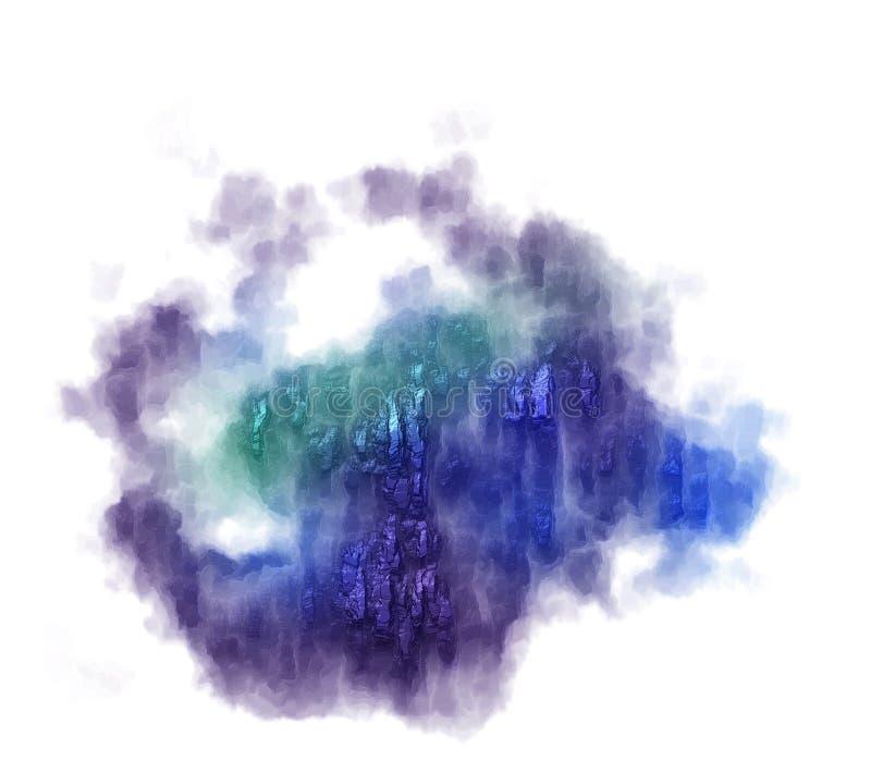 El bstract del  de Ð derramó el fondo azul y violeta de la pintura libre illustration