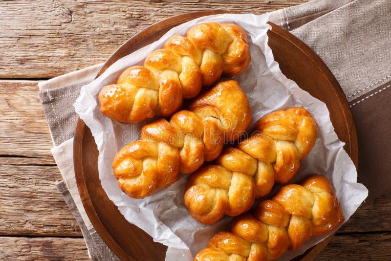 El buñuelo pegajoso frito Koeksisters surafricano es dulce, stic foto de archivo libre de regalías