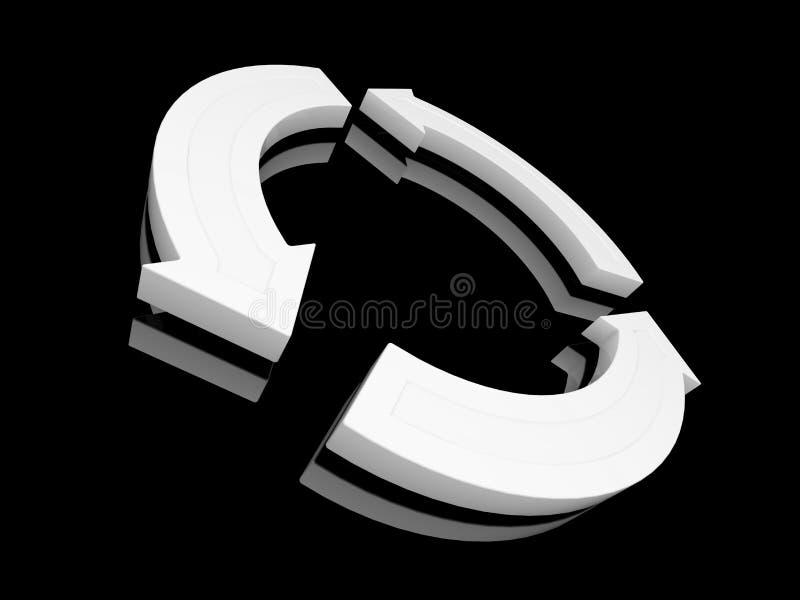 El bucle blanco recicla símbolo libre illustration