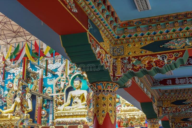 El Buda Vihara del monasterio budista de Namdroling, Coorg la India imagen de archivo