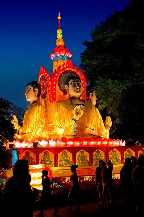 El Buddha Cuatro-Hecho frente fotografía de archivo libre de regalías