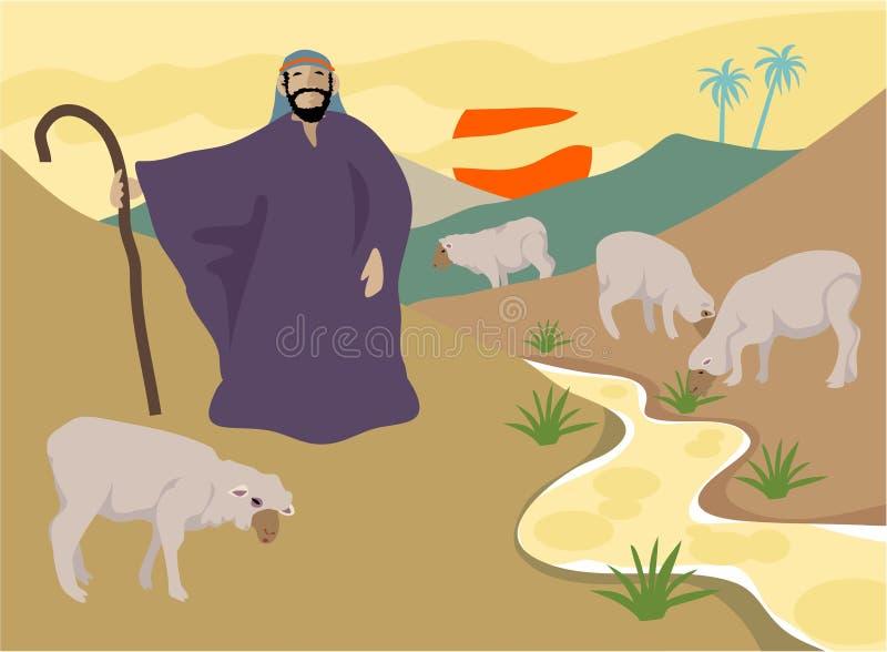 El buen pastor stock de ilustración