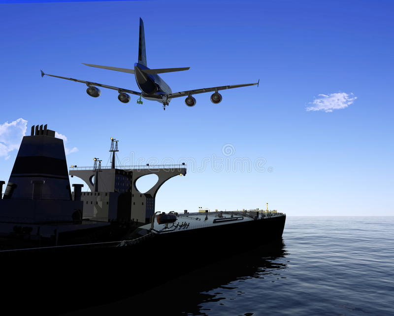 El buque de carga libre illustration