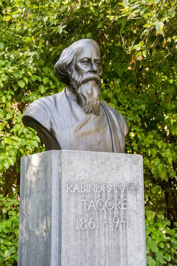 El busto de bronce de Rabindranath Tagore, Dublín, Irlanda foto de archivo