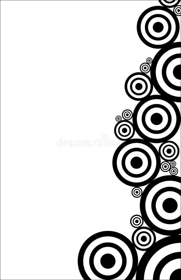 El Bw circunda textura stock de ilustración