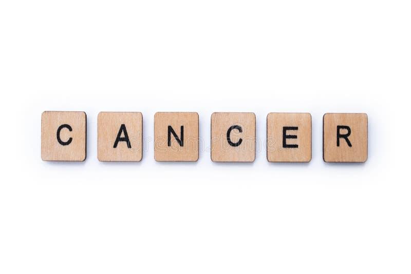 El cáncer de la palabra fotos de archivo libres de regalías