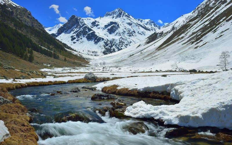 El Cáucaso en primavera foto de archivo libre de regalías