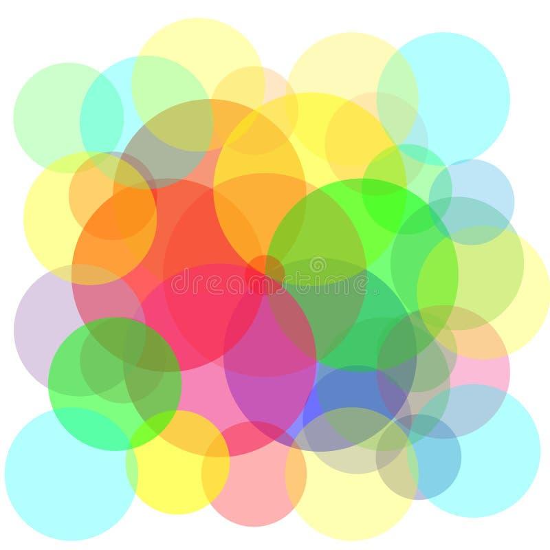 El círculo coloreado, modelo creativo de las burbujas, burbujea fondo ilustración del vector