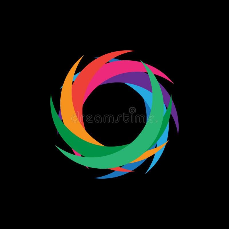 el círculo redondo conecta el logotipo stock de ilustración