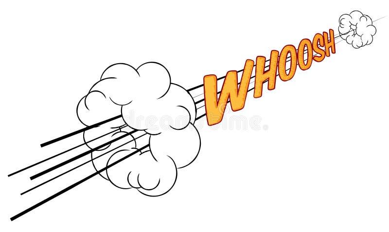 El cómic de la historieta Whoosh efecto sonoro rápido stock de ilustración