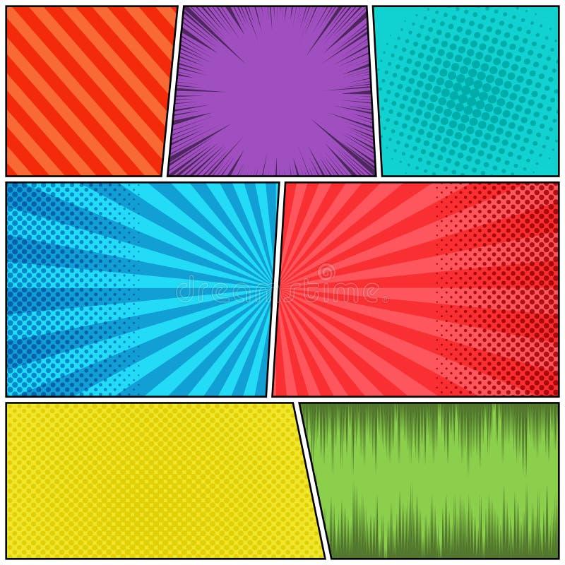 El cómic pagina concepto ilustración del vector