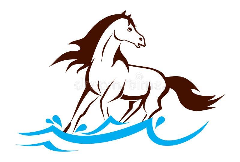 El caballo corriente imagen de archivo