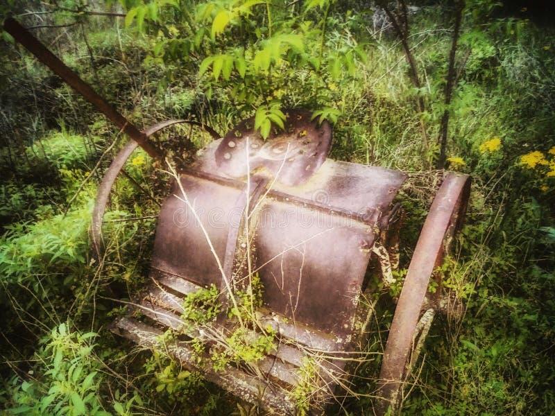 el caballo del vintage tiró del equipo de cultivo una antigüedad fotografía de archivo libre de regalías