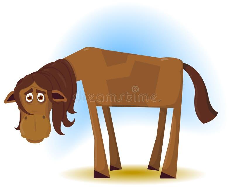 El caballo tonto ilustración del vector