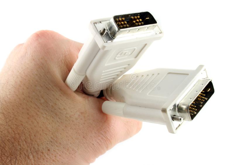 El Cable Del Ordenador De 19 Pin D Se Sostuvo En La Mano 2 Fotografía De Archivo