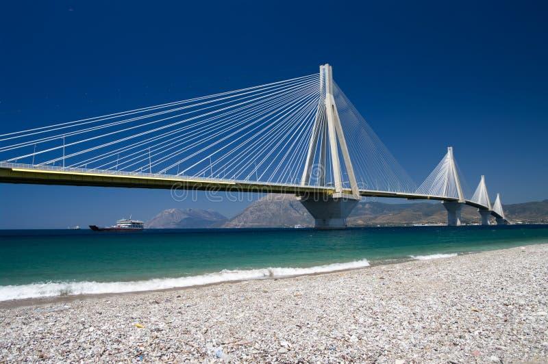 El cable permanecía el puente, Grecia imágenes de archivo libres de regalías