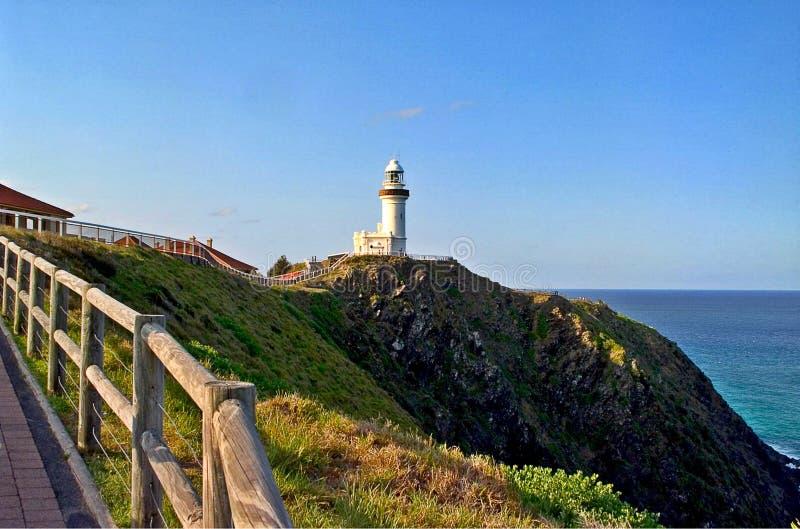 El cabo Byron Lighthouse fotografía de archivo