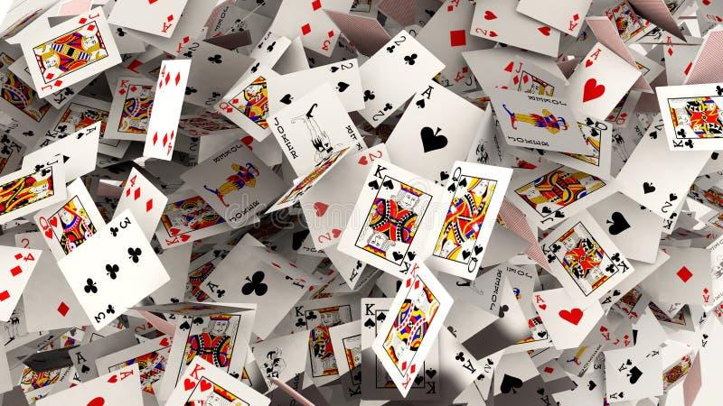 El caer de las tarjetas del póker libre illustration