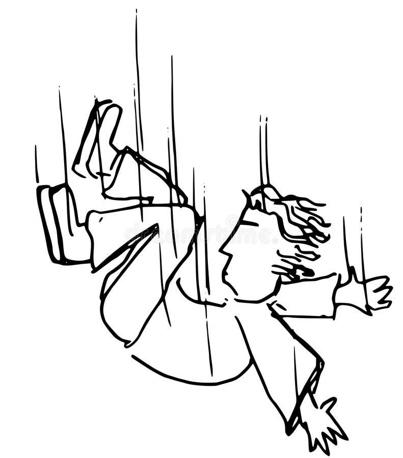 El caer dormido stock de ilustración