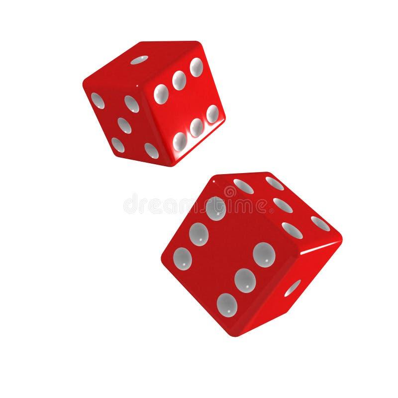 Download El Caer Roja De Los Dados 3d Dos Stock de ilustración - Ilustración de decisión, hospitalidad: 42445977