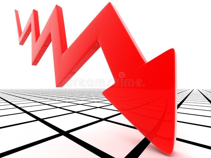 El caer roja del puntero stock de ilustración