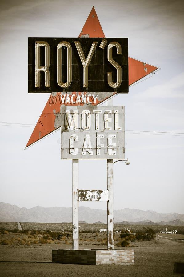 El café de Roy en la ruta 66 fotografía de archivo libre de regalías