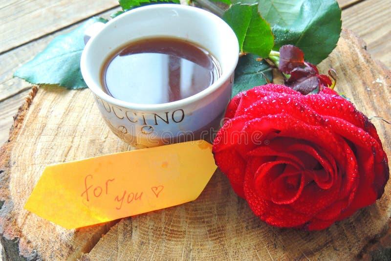 El café y subió para usted fotografía de archivo