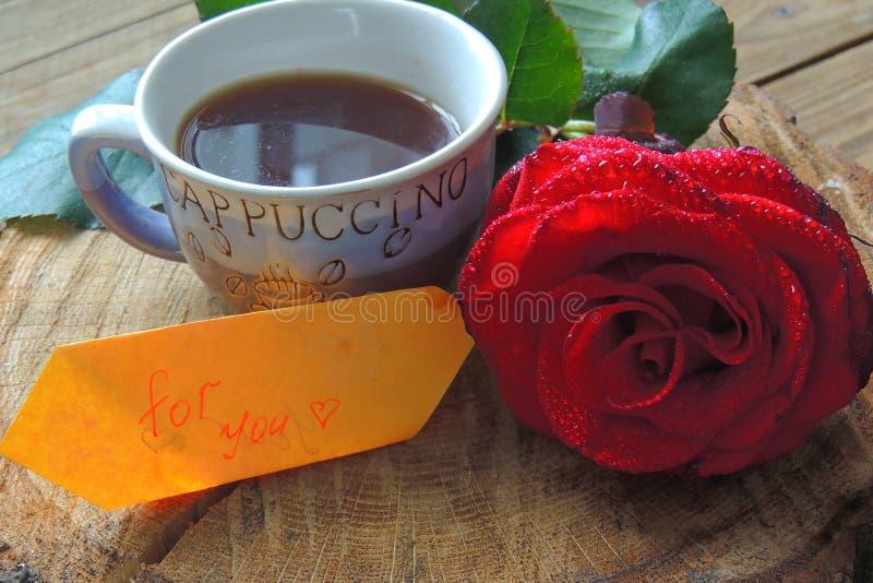 El café y subió para usted imágenes de archivo libres de regalías