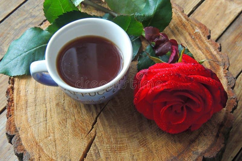 El café y subió para usted foto de archivo libre de regalías